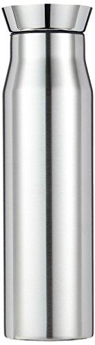 alfi 2457.205.100 Wasserkaraffe flowMotion, Edelstahl mattiert 1,0 l, mit zerlegbarem Verschluss, spülmaschinenfest, 6 Stunden heiß, 12 Stunden kalt -