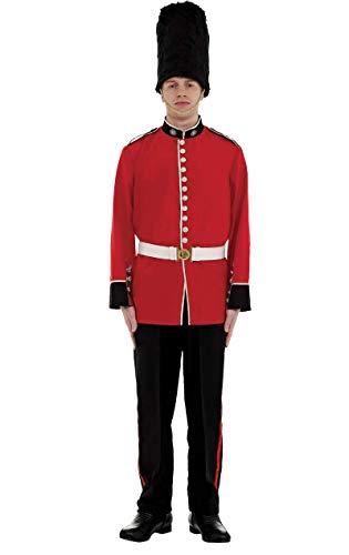 Generique - Soldaten-Kostüm für Herren Palastwache schwarz-rot-Weiss XL