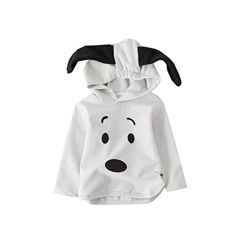 fairy baby Unisex Hoodie Hund Muster mit großen Ohren Langen Ärmeln Size 90 (Gray)