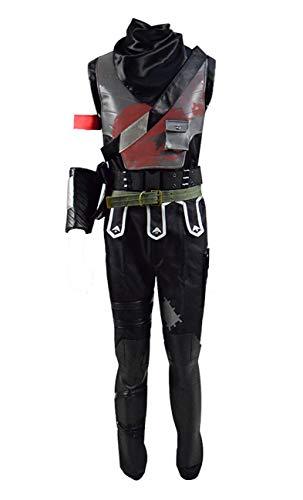 Yewei Online-Schießspiel Dark Knight Kostüm Herren Halloween Kostüm Outfit (Schwarz, L)