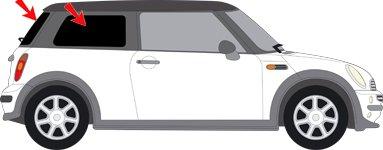Auto Sonnenschutz fertige, passgenaue Scheiben Tönung , Sonnenblenden, keine Folien, Vorsatzscheiben Mini Cooper R 50/R 53