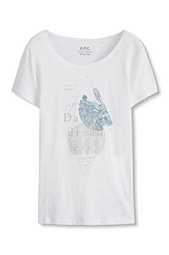 edc by Esprit 086cc1k015, T-Shirt Femme Gris (ICE 055)