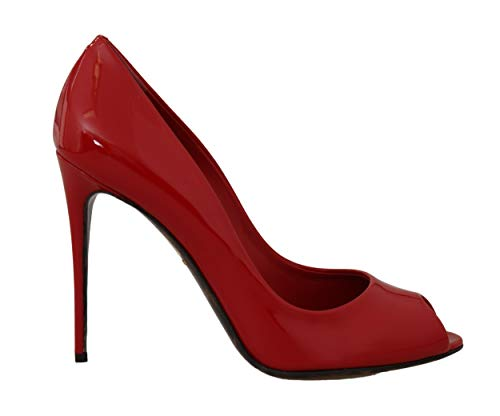 Dolce & Gabbana - Damen Schuhe - Pumps Red Leather Stiletto Open Peep Toe Size: 39 Dolce Gabbana Pumps