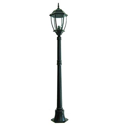 Gartenleuchte New York 1 Licht E27 für Außenbereich Himbeer Höhe 180 cm IP65 - weiß