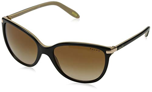 Ralph Lauren Ralph by Damen 0RA5160 109013 57 Sonnenbrille, Black/Nude/Browngradient,