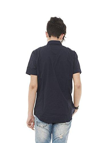 Diesel Herren Freizeit-Hemd, einfarbig Blau