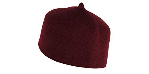 Desert Dress - Chapeau Exotique 100% Laine Marocain Turc Fez Ottoman Hommes - Non renseigné, Bordeaux