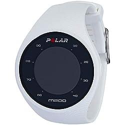 Polar M200 Reloj de Running con GPS, Unisex Adulto, Blanco, M/L