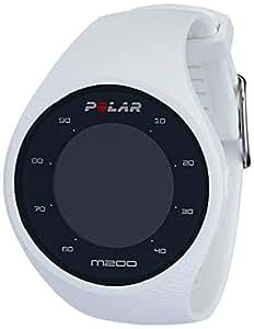 Polar M200 Orologio GPS con Cardiofrequenzimetro Integrato, Monitoraggio Attività Fisica e Sonno, Unisex – Adulto, Bianco, M/L