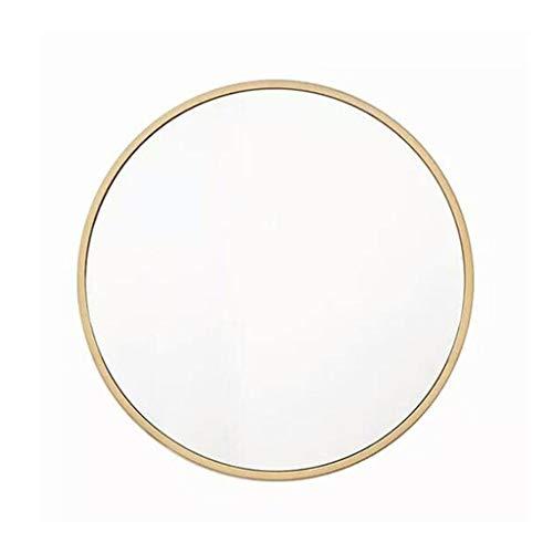 Nordic Modern Minimalist Schmiedeeisen Gold Kosmetikspiegel Designer Wandbehang runder Spiegel Bad Kosmetikspiegel -613 (Size : 90cm)