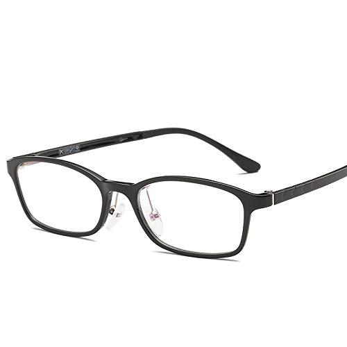 YMTP Männer Frauen Quadratische Brillen Rahmen Rezept Optische Klar Brillenfassungen Myopie Brillenfassungen Mit Fall, Bright Black