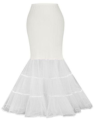 Jack Smith Puffy Slip Mermaid Brautkleid Weißer Petticoat für Damen JS477-2 Ivory XL