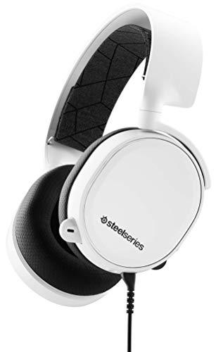 SteelSeries Arctis 3 Cuffie da Gioco per Tutte le Piattaforme, per PC, PlayStation 4, Xbox One, Nintendo Switch, VR, Android e iOS, Cablata, Bianco [Edizione 2019]