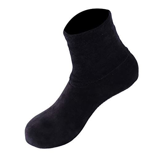 ZZBO Damen Hausstrümpfe Rutschfeste Socken Thermo Socken Socken mit Leopard Strickbund Bequeme Anti-Rutsch-Socke Schuhe Stiefel Elastic Cuff Stoppersocken Winter Slipper Boden Socken Weiche Sohle -