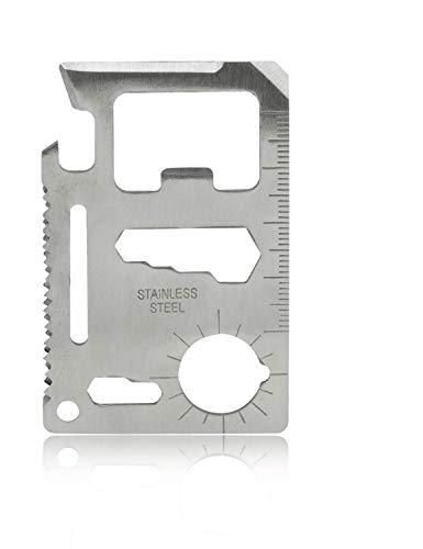 Grenhaven 11 in 1 Überlebenswerkzeug Karte Mini Multi-tool Outdoor Tools - EC-Format Geldbörse - Schraubenzieher Flaschenöffner Multifunktionswerkzeug