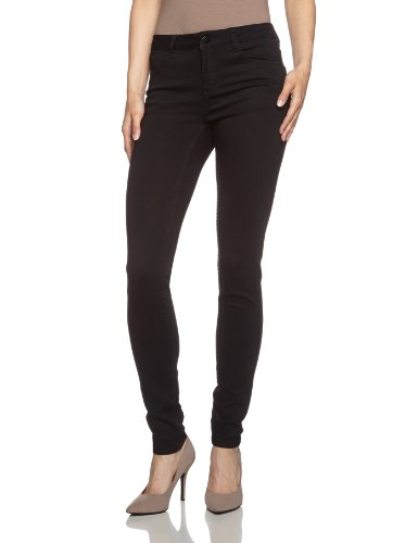 PIECES Damen Hose JUST JUTE R.M.W. Hose BLACK Schwarz (Black)
