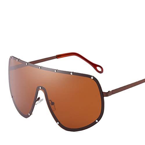 WZYMNTYJ Übergroße XXL Huge Large Shield Wrap Designer Damen Polarized Sonnenbrillen Herren und Damenmode einzigartig