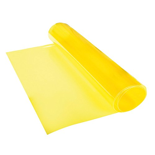 Kunststoff Tönungsfolie Gelb, Maße 30 x 100 cm, 1 Stück