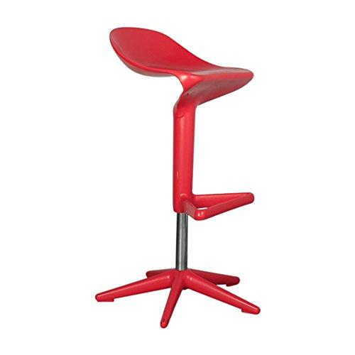 Mena Uk Neue Design Swivel ABS Kunststoff Bar Küche Frühstück Hocker Stuhl, 76X35X55cm (Farbe : Rot, größe : 57-76cm) (Swivel Hocker Küche)