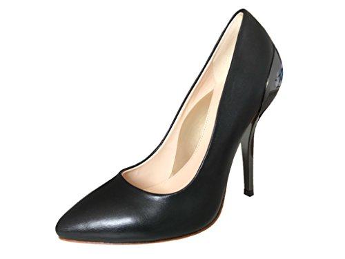 bf9f05dc53d WH Waldemar Halle Black Diamond High Heels mit Hochglanz Absatz Schwarz  Damen Pump (37