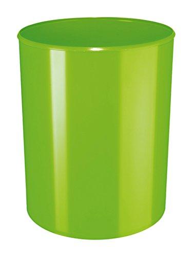 HAN Design-Papierkorb i-Line 18132-90 in New Colour Grün / Eleganter & stylischer Papiereimer für das moderne Büro / Fassungsvermögen: 13 Liter