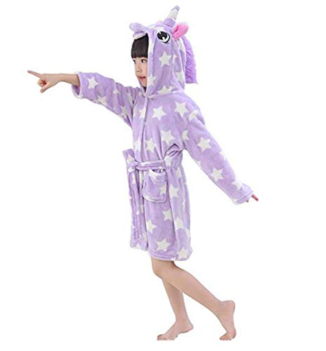 r Unicorn Bademantel Flanell mit Kapuze Pyjamas Cosplay Kostüme Tiere verkleiden Sich Unisex ()