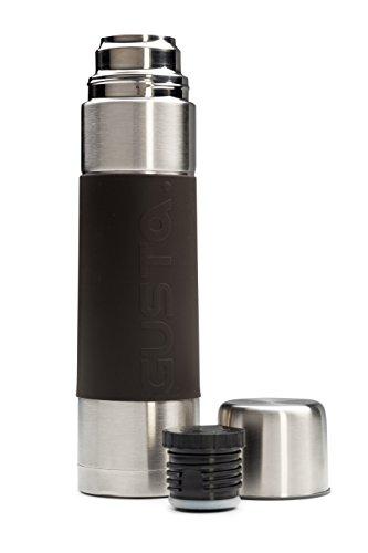 Thermos per Bevande Gusta in Acciaio Inossidabile a doppia parete / Capacità 1L / Qualità Superiore / Isolamento Sotto Vuoto/ Per ogni occasione / Lavabile in Lavastoviglie