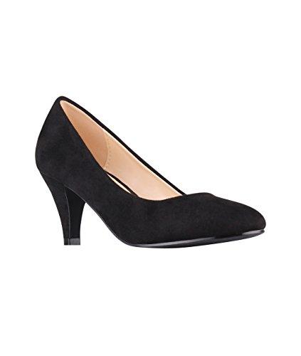 b8f7f64ce4a88 KRISP Zapatos Mujer Tacón Bajo Medio Aguja Fino Fiesta Vestir ...