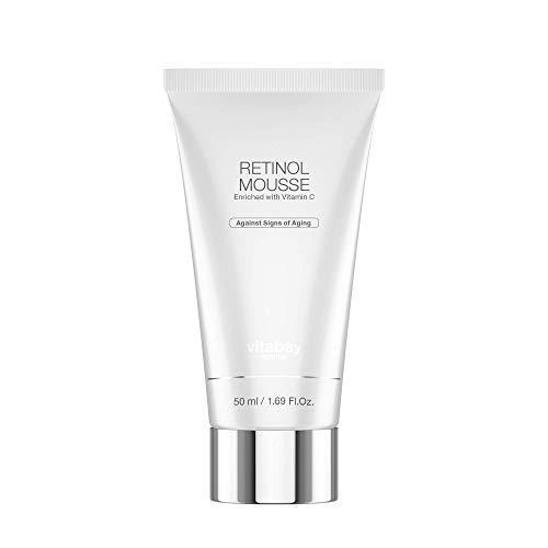 Retinol Mousse -Anti-Aging Tagescreme mit Retinol, Vitamin C und Hyaluronsäure 50 ml - für reine, ebenmäßige Haut, gegen Falten und...