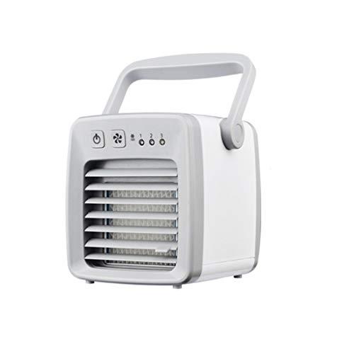 Tianya Mini refrigerador portátil Ventilador electrico función Silence,Ventilador del aire acondicionado con carga USB<1.2m / 47.2