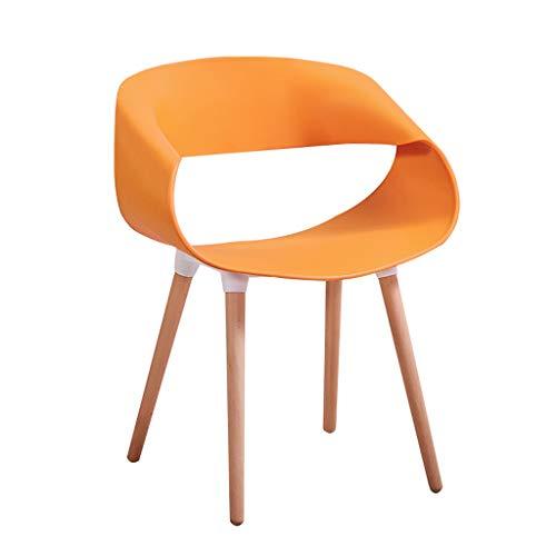 Lxn Moderne Esszimmerstühle von PP Plastic and Wood Legs Stühle für Esszimmer Wohnzimmer Café Hotels - 1 Stück -