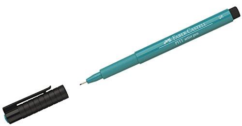 Faber-Castell 167156–Tusche lápiz Pitt Artist Pen, grosor de trazo S, color 156, kobaltgrün