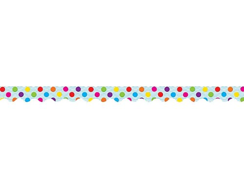Teacher Created Ressourcen Multicolor Polka Dots Border Trim, Multi Farbe (4674) -
