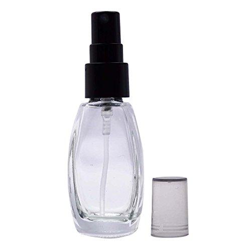 6 Pcs gros bouteilles vides de parfum de verre clair Aromathérapie rechargeable Spray Huile Essentielle bouteille atomiseur pulvérisation sériques bouteilles de 10 ml
