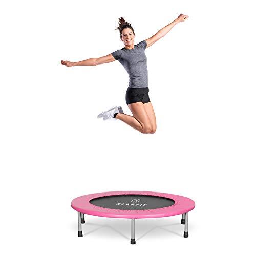 Klarfit Rocketbaby Trampolin - Sprungfläche: 96 cm, Material: Polypropylen, pulverbeschichteter Rahmen, belastbar bis 100 kg, Indoor, pink