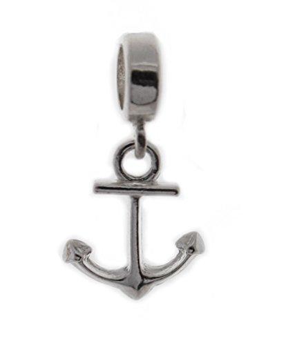 Echtes massives Silber 925Anker Dropper Charm Bead kompatibel mit Pandora Armband