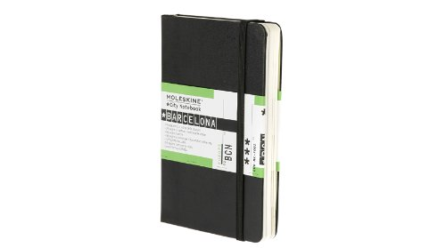 Moleskine City Notebook BARCELONE Couverture rigide noire 9 x 14 cm