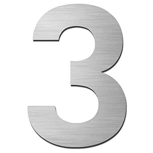 Número para casas (acero inoxidable adhesiva, altura 7.5cm, Número de casa, número de puerta Design
