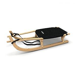 Tourenrodel Zweisitzer mit Polstersitz (für 1-2 Personen) Schlitten, Rodel, 125cm, Sitzfläche: 54 x 43 cm