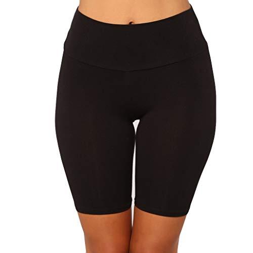 Setsail Damen Mode Solid High Elasticity Leggings Aktive Tanz Radfahren Shorts Hosen Outdoor-Hosen Marine High Bib Overall