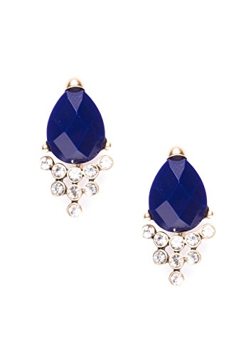 2 Teil-formel (Happiness Boutique Damen Ear Jacket Ohrringe Blau | 2 in 1 Statement Ohrstecker Royal Blue nickelfrei)