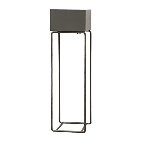 QFF Eisen-Quadrat-Blumen-Stand- / Betriebsstand, einfacher Art-Boden-Platz-Topfpflanze Wohnzimmer/Schlafzimmer/Studie 4 Farben Bodenständig (Color : Gray, Size : 25 * 25 * 80cm)