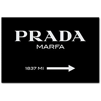 berger designs wandbild prada marfa modern kunstdruck schwarz weiss leinwand. Black Bedroom Furniture Sets. Home Design Ideas