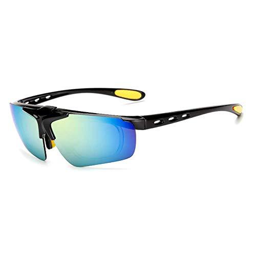 SCJ Radfahren Brille Männer und Frauen Flip Cover Sonnenbrille Laufen Outdoor-Sport Angeln Golf