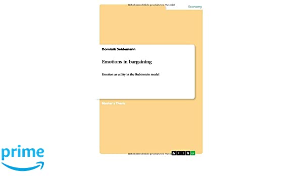 Emotions in bargaining: Amazon co uk: Dominik Seidemann