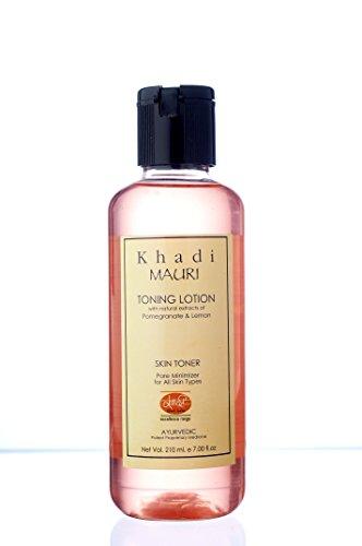 KHADI Toning Lotion - Skin Cleanser & Toner - 210 ml - Enriched with Pomegranate & Lemon