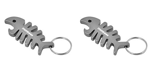 (munkees 2 x Schlüsselanhänger Fisch-Anhänger Figur Flaschenöffner, Doppelpack, Silber, 342819)