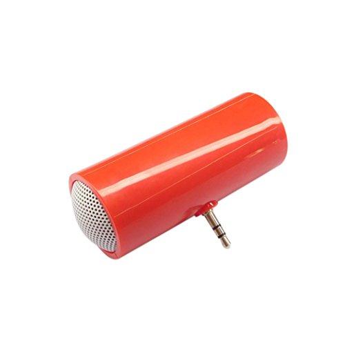 Jintime 3,5 mm Musik Player Portable Stereo Lautsprecher für iPod / iPhone6 Plus Handy (Red)