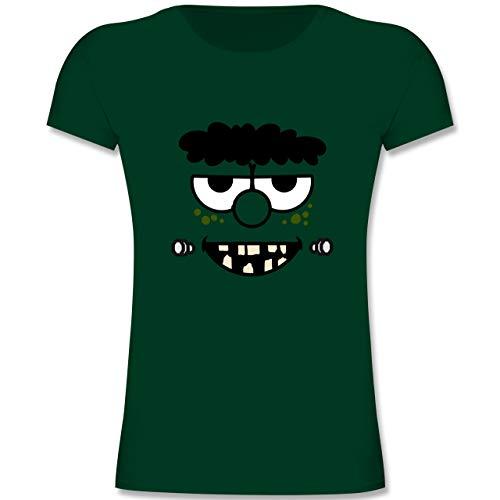 Karneval & Fasching Kinder - Frankensteins Monster - Karneval Kostüm - 164 (14-15 Jahre) - Tannengrün - F131K - Mädchen Kinder T-Shirt