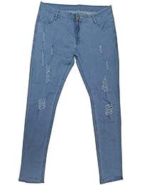 Y Jeans Skinny Pantaloni Uomo Pantaloni Ragazzo Stretch con Strappi da Uomo  Pantaloni Denim di Base e258792d9653